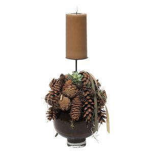 Juledeko. no. 41-21, Glasvase m. 1 LED lys, natur