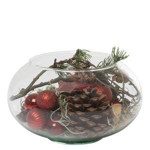 Juledeko. no. 11-21, glasbowle, rød