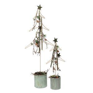 Juledeko. no. 32-21, juletræssæt, grøn