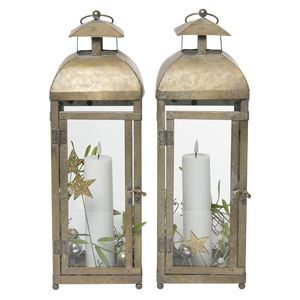 Juledeko. no. 33-21, lanternesæt, hvid