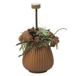 Juledeko. no. 39-21, vase m. 1 fyrfadsstage, natur